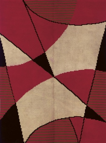 modernist carpet by antonín kybal