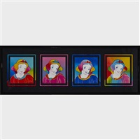 snow white (4 works) by peter max