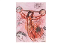 l'acrobate rouge by marc chagall