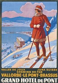 vallorbe-le pont-brassus, grand hotel du pont by johann emil müller