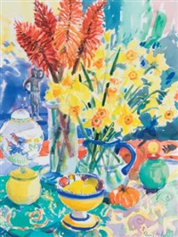 still life with daffodils by shona mcfarlane