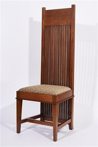 Tall Back Chairs (6 Works) By Frank Lloyd Wright
