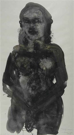 heavy woman by marlene dumas