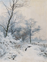 winterly idyll by heinrich gogarten