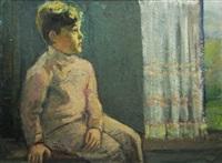 at the window by dan bajenaru