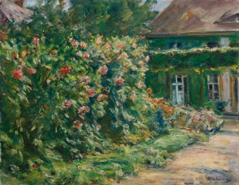 mein haus in wannsee mit garten my house in wannsee with garden by max liebermann