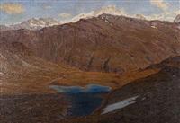 le lac des autannes et le weisshorn by henri van muyden