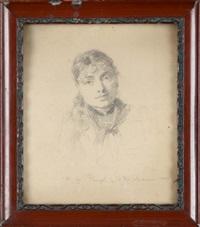 portret marii chełmońskiej by stanislaw reichan