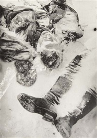 selected images of dead soldiers, stalingrad (3 works) by galina sankova