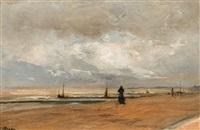plage et mer by louis artan de saint-martin