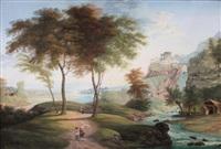 vue d'italie, la cascade by friedrich weber