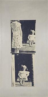 fun house mirror (series i, oatmeal) by marilyn minter