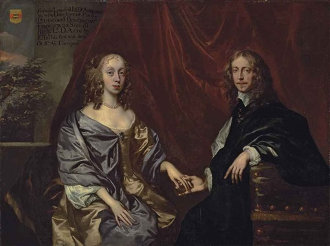 double portrait said to be of francis lennard, 14th baron dacre (1619-1692), and elizabeth, née bayning, later countess of sheppey (1625-1686)... by sir peter lely