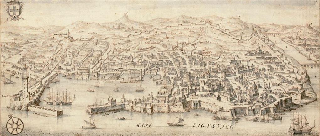 view of genoa by francesco zucchi