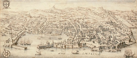 view of genoa by francesco zucco