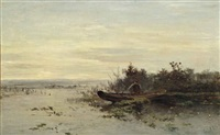 de eerste baars (vroege morgen): the first sea bass by paul joseph constantin gabriël