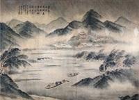 烟雨归舟图 by dai kechang