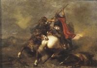 combat de cavaliers by pierre andrieu