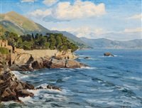 pine grove at the ligurian coast by wilhelm bartsch