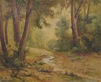 paysage de sous-bois by louis granata