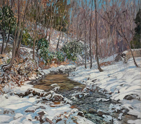 woodland brook by edward willis redfield