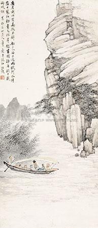 赤壁泛舟图 by wang kun