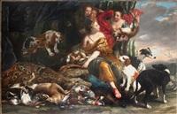 diane et ses nymphes avec trophée de chasse by jan fyt