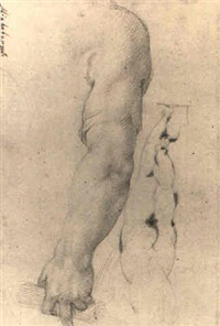 study of hand holding scroll by belisario corenzio