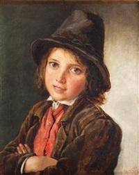 portret chłopca w kapeluszu by ludwik wiesiolowski