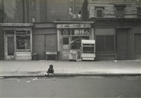 kids god bless (from belafonte, new york 19) (child playing at curb, eighth avenue) by roy decarava
