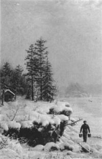 winter landscape by mortimer l. smith