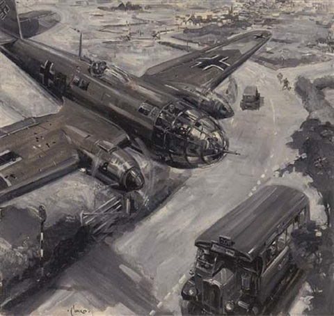 cover designs for the war weekly 2 works by terence cuneo