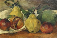 still life with fruits and vegetables by eugene louis corneau