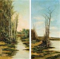 paisajes (pair) by ramiro lafuente