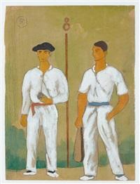 joueurs de pelote, atano iii et joueur de pala by ramiro arrue