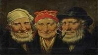 trois têtes de hommes by roman arregui