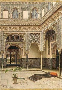 el patio de un palacio moro by tomas aceves