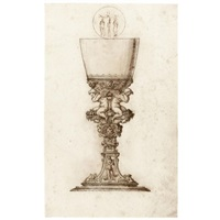 design for a chalice with a roundel of the crucifixion by jacopo strada