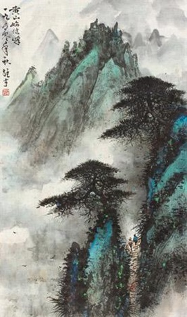 黄山始信峰 shixinfeng of huangshan by li xiongcai