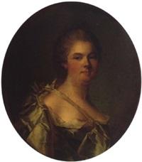 portrait de la carabillon, de la famille de mathan by louis richard françois dupont
