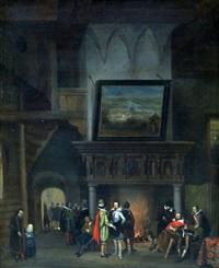 interieur met johan van oldenbarnevelt by jan van der kaa