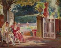 women on the bench by ignacy pienkowski
