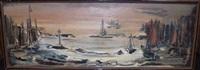 harbor scene by etienne ret