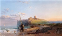ruins of dunstanborough castle by samuel phillips jackson