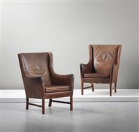 highback armchairs (pair) by ole wanscher