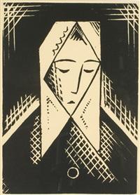 head of a woman (ženská hlava) by josef capek
