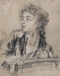 jeune dessinateur en buste by françois boucher