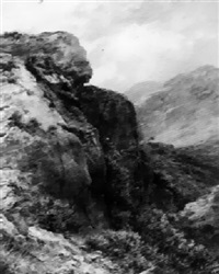 a rock up a hillside by james faed the younger