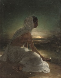 an offering at the ganges by frederick richard pickersgill
