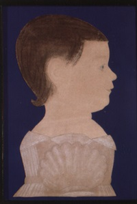 portrait of a little girl in white by ruth henshaw miles bascom